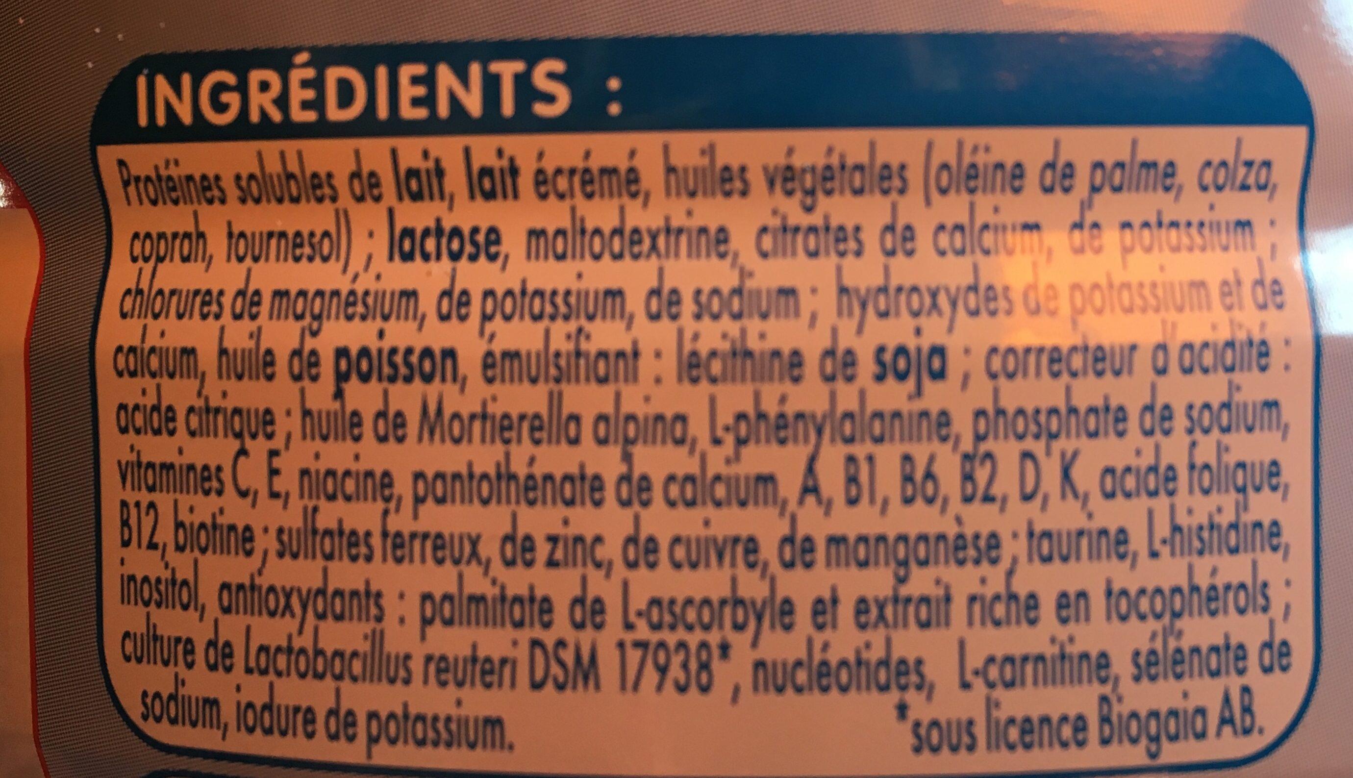 Dès la naissance 1 - Ingredients - fr