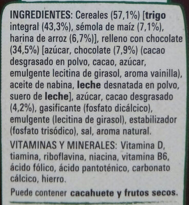 Fitness chocolate - Ingredientes