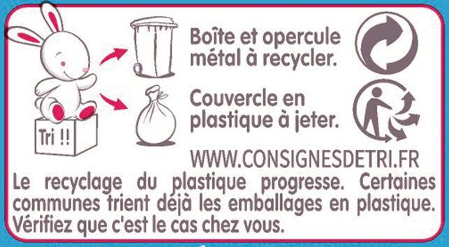 GUIGOZ 3 Lait de Croissance dès 1 an - Istruzioni per il riciclaggio e/o informazioni sull'imballaggio - fr