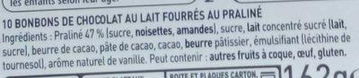 L'Escargot Lait - Ingrediënten - fr