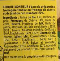 Tendre Croc' Chèvre - Ingrediënten - fr