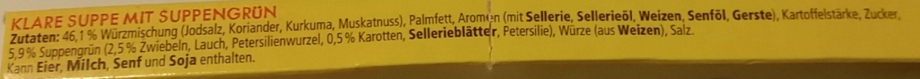 Klare Suppe - Inhaltsstoffe - de