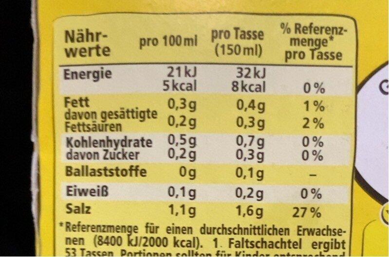 Klare Suppe - Nährwertangaben - de