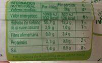 Masa para pizza sin gluten y sin lactosa - Voedingswaarden - es