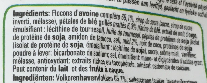 Fitness croquant d'avoine - Ingredients