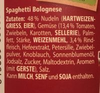 Maggi 5 Minuten Terrine Spaghetti Bolognese +25% Gratis - Ingredients