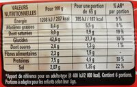 HERTA pâte à pizza fine et rectangulaire - Voedingswaarden - fr
