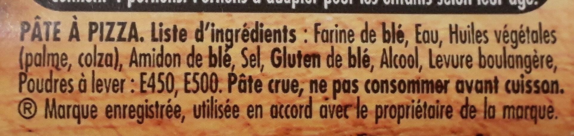 Pâte à pizza Fine & Ronde - Ingrediënten - fr