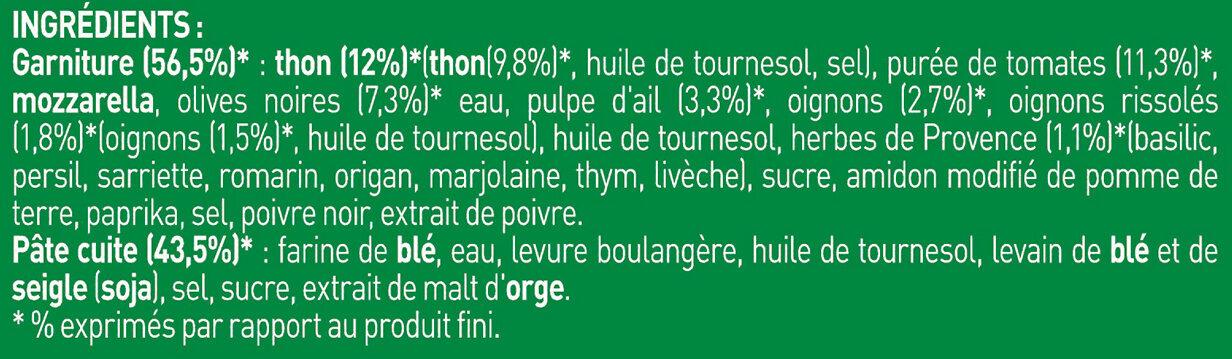 BUITONI FOUR A PIERRE Pizza Surgelée Thon 3 packs x 340g (2+1 offerte) - Ingrédients - fr
