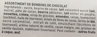 Noel à Paris chocolats noir, lait & blanc - Ingrédients