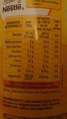 Ricoré - Nutrition facts - en
