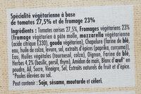 Carré gourmand Tomates et Mozzarella - Ingrédients