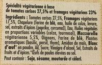 Carré gourmand Tomates et Mozzarella - Ingrediënten - fr