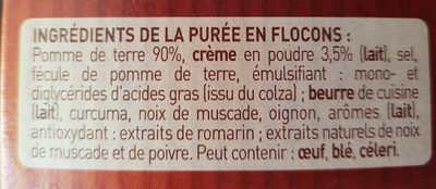 Purée en flocons de Pommes de terre, crème & noix muscade Mousline - Ingredients - fr