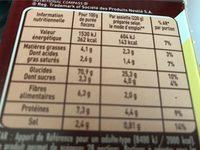 Saveur à l'Ancienne Crème & Noix de Muscade (6+1 gratuit) - Voedingswaarden - fr