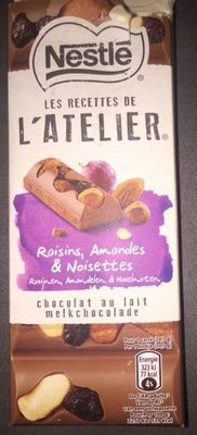 Chocolat au lait Raisins, Amandes & Noisettes - Prodotto - fr