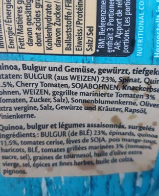 Quinoa mix - Ingrediënten