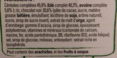Fitness Chocolat Noir - Ingrédients - fr