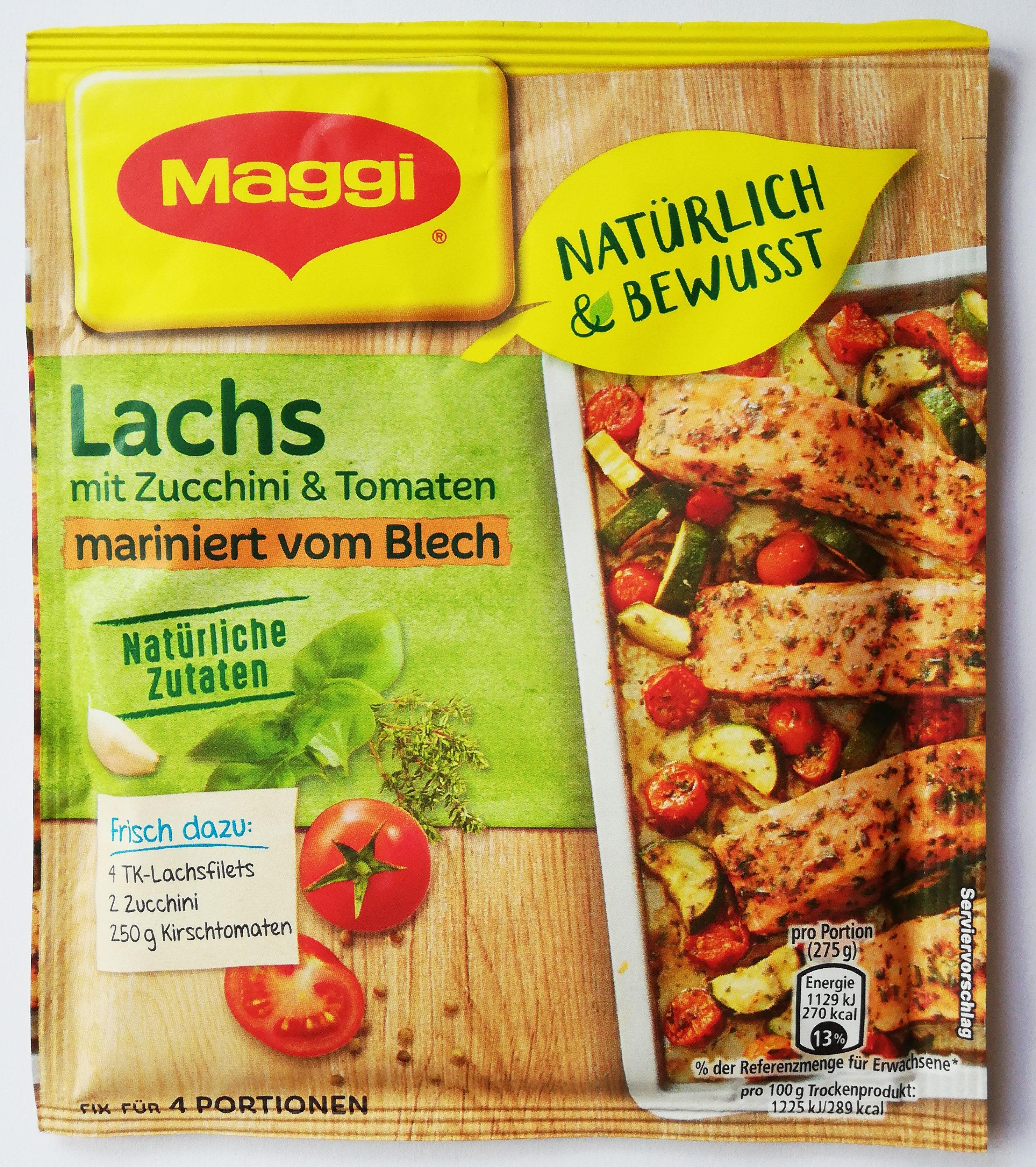 Lachs mit Zucchini und Tomaten - Maggi - 26 g