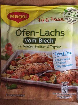 Lachs mit Zucchini und Tomaten - Produit - fr