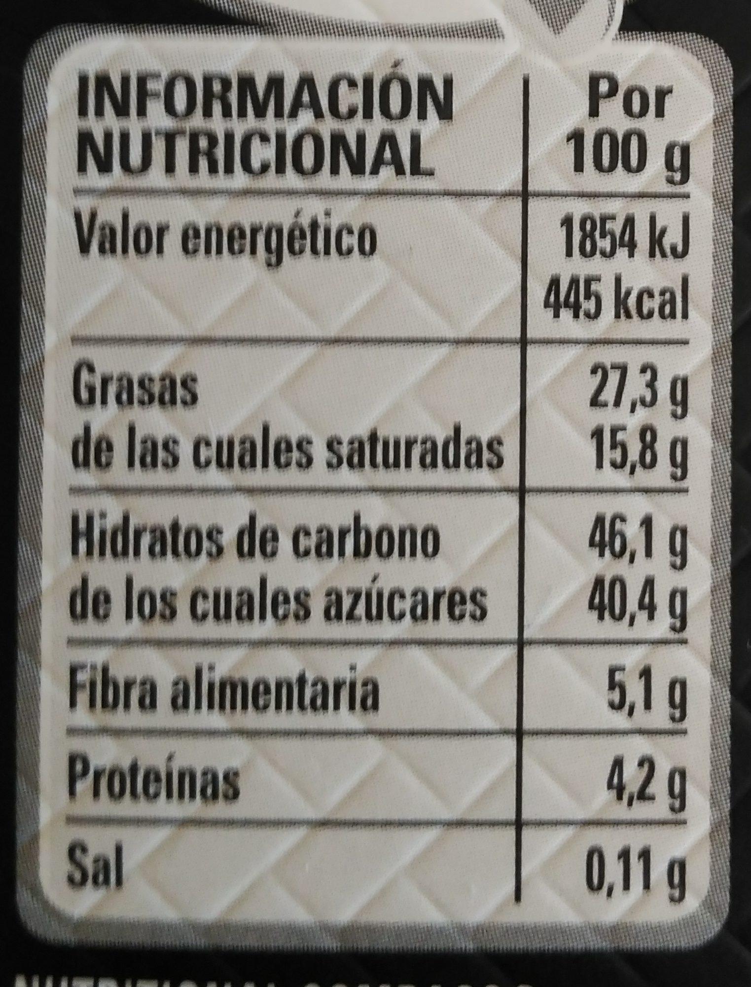 Bombones chocolate negro premium caja roja - Informació nutricional - es