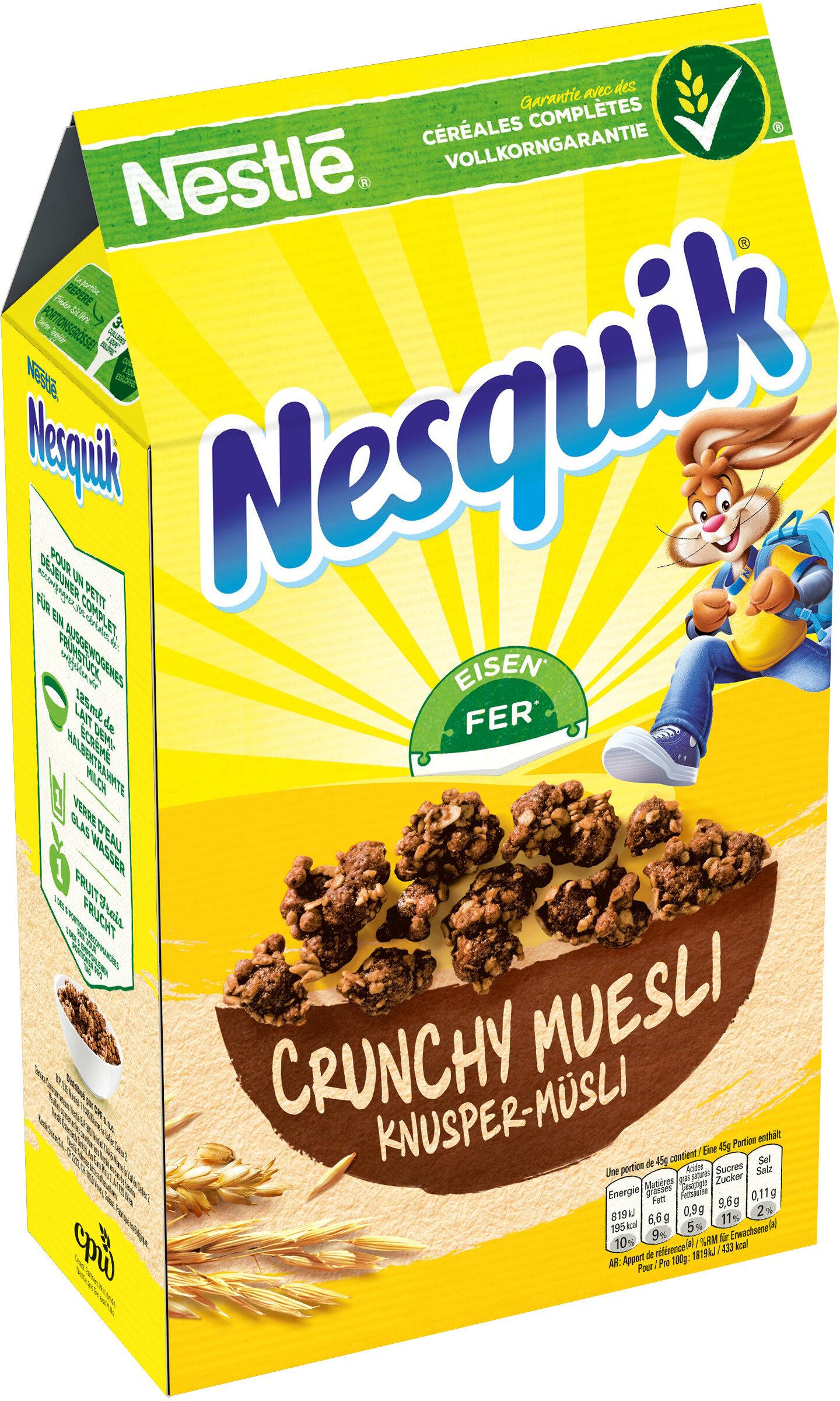 NESQUIK Céréales Petit Déjeuner Crunchy Mueslis - Prodotto - fr