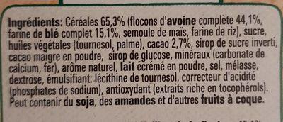 NESQUIK Céréales Petit Déjeuner Crunchy Mueslis - Ingredienti - fr