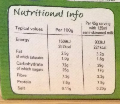 Shredded wheat apple crumble - Nutrition facts