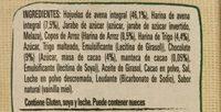 AVENA Y MAS GRANOLA CHOCOLATE - Ingredients