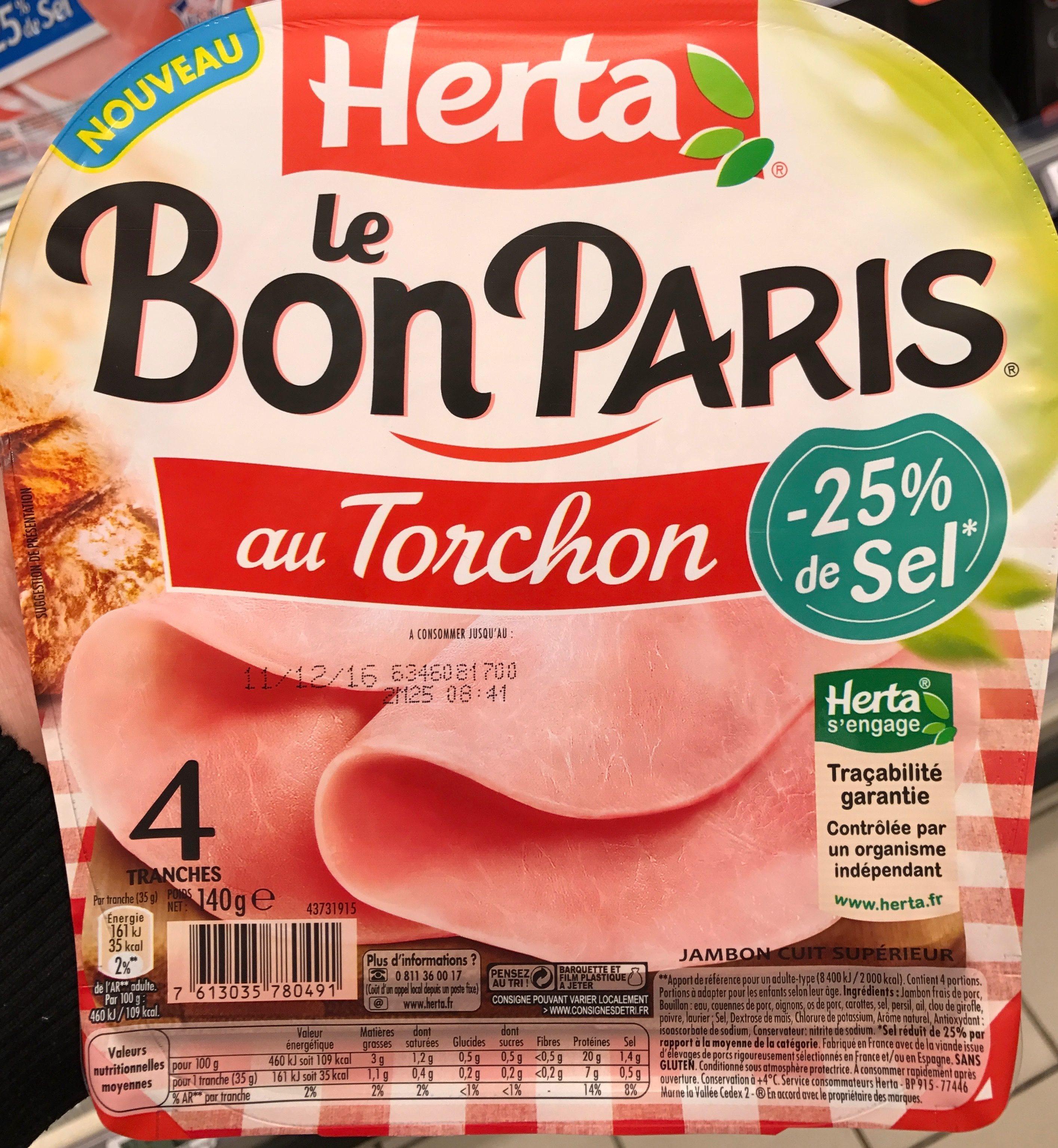 Le Bon Paris au Torchon -25% de Sel - Produit