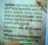 Bouillon Kub légumes - Ingredients - fr