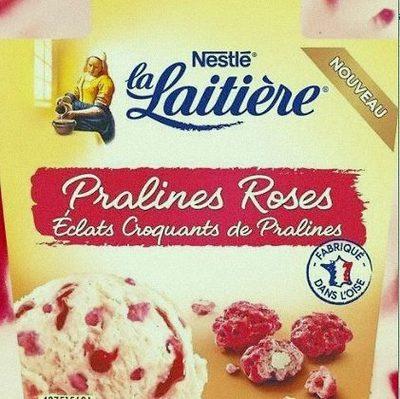 Crème Glacée Pralines Roses éclats croquants de pralines - Produit