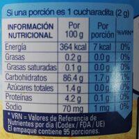 Ecco Cebada X - Informations nutritionnelles - fr