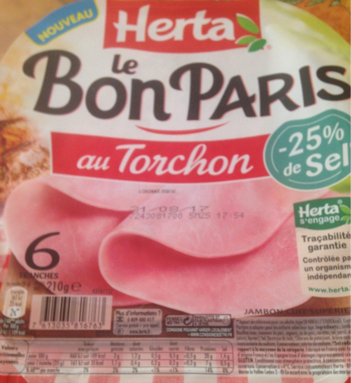 Le bon Paris au torchon -25% de sel - Product