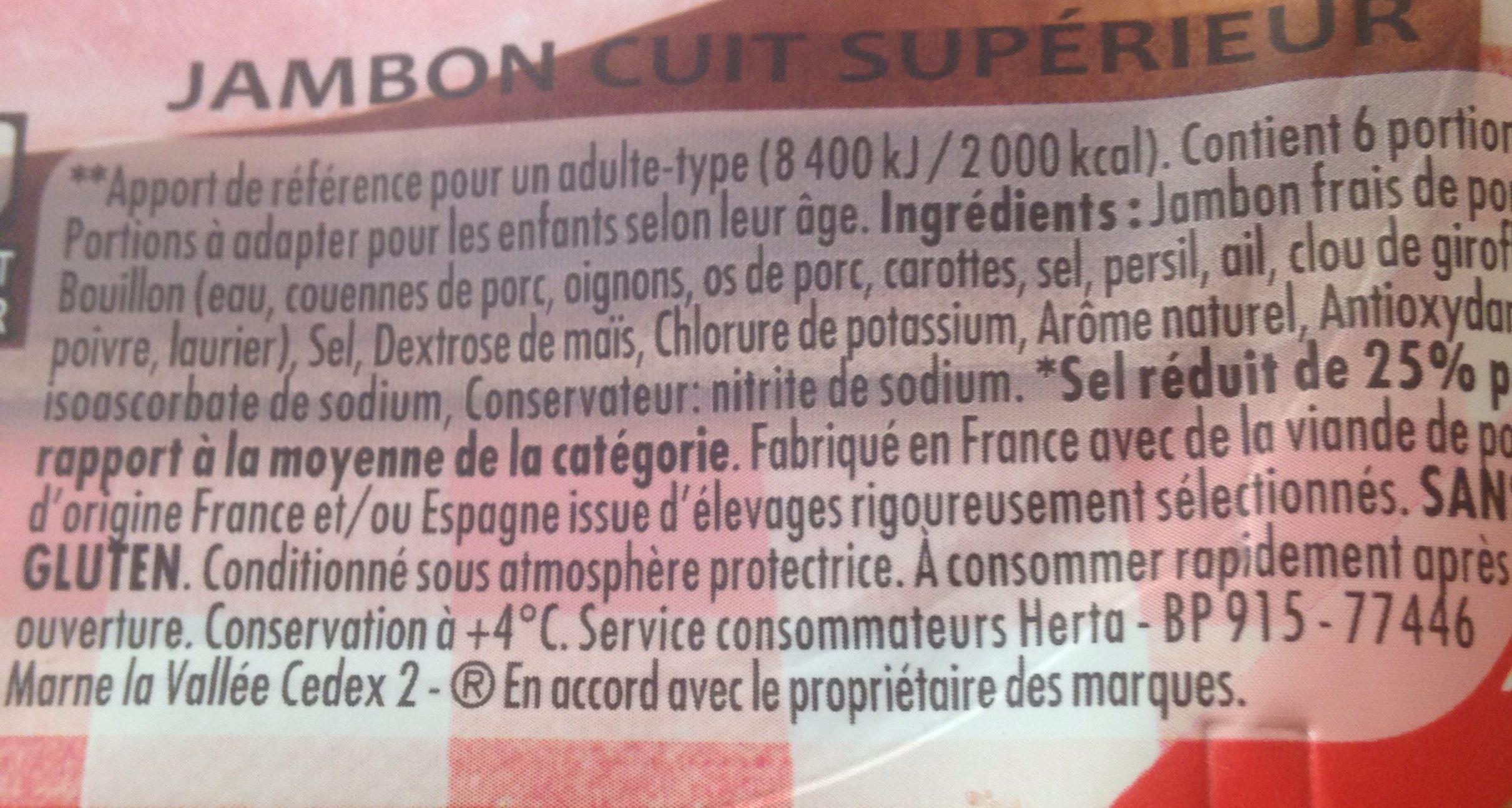 Le bon Paris au torchon -25% de sel - Ingredients