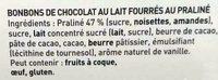 L'escargot Lait - Ingredients - fr