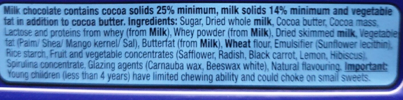 Smarties - Ingredients - en