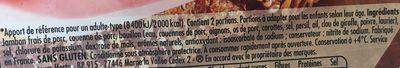 Tendre Noix charcutier avec couenne - Ingredients - fr