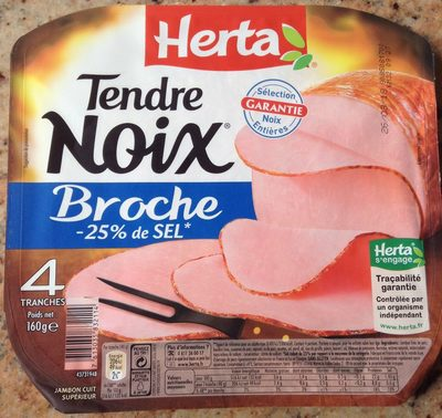 Tendre noix broche -25% sel - Product - fr