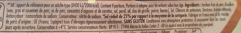 Tendre noix broche -25% sel - Ingrédients - fr