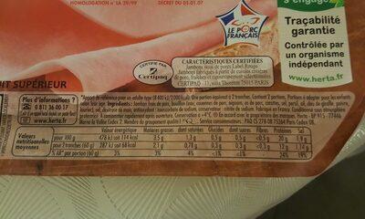 Tendre Noix Jambon Label Rouge - Ingredients