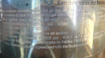 Perrier fines bulles - Ingredients - fr