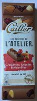 Chocolat au lait cranberries, amandes et noisettes - Produit - fr