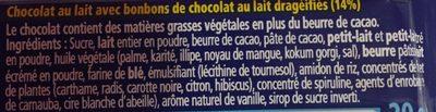 Mini tablette - Ingrédients - fr