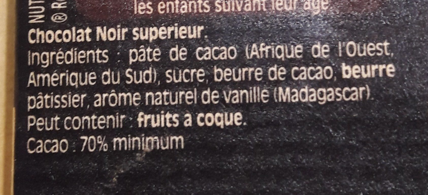Noir Absolu - Ingredients