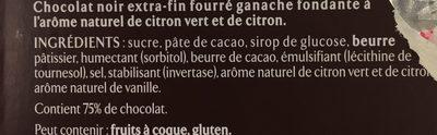 Les Recettes de l'Atelier Ganache Chocolat et Citron Vert - Ingredienti - fr