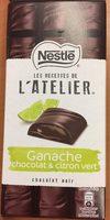 Les Recettes de l'Atelier Ganache Chocolat et Citron Vert - Valori nutrizionali - fr