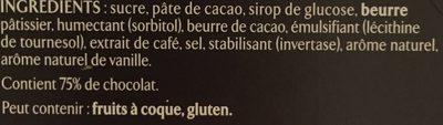 Recettes de l'atelier - Ganache chocolat & café - Ingrédients - fr