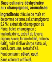 Fond de Champignons - Ingrédients - fr