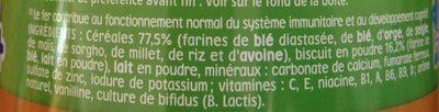 Nestlé p'tite céréale - Ingredients